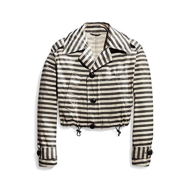 Cadet Striped Crop Jacket