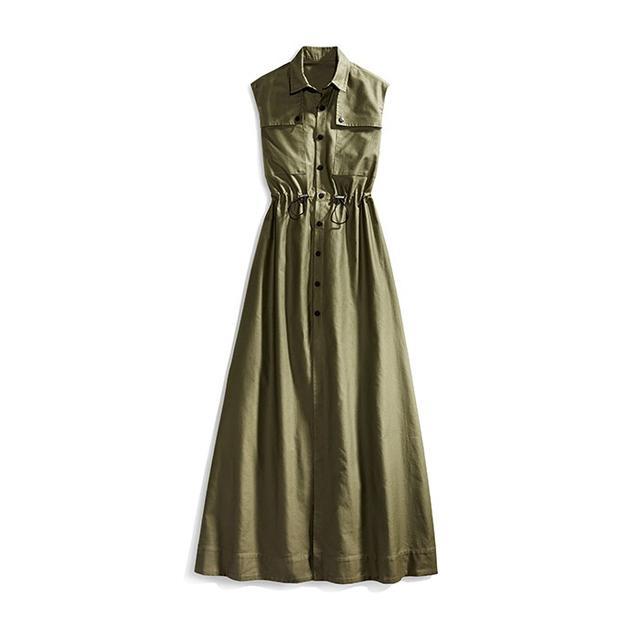 Cadet Cotton Sleeveless Long Dress