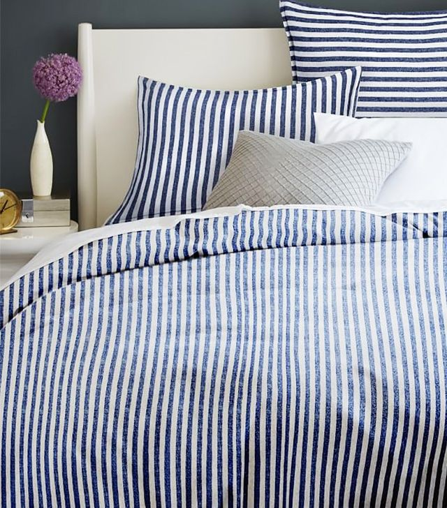 West Elm Flannel Stripe Duvet Cover