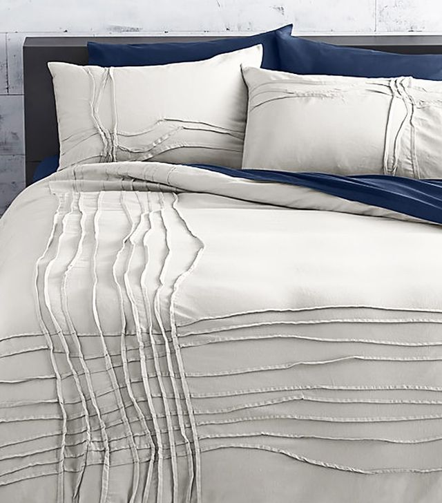 CB2 Twisted Silver Grey Full/Queen Duvet