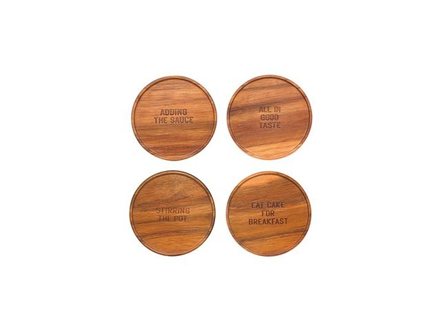 Kate Spade New York All In Good Taste Wood Coasters