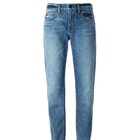 Stone Washed Boyfriend Jeans