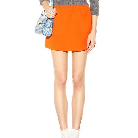 Wool-Blend Miniskirt