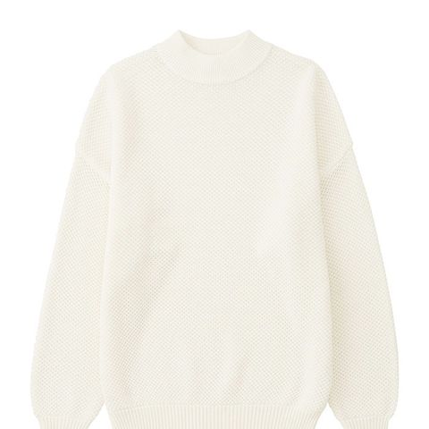 Cotton Oversized High Neck Sweater