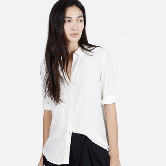 Everlane The Silk Round Collar Shirt