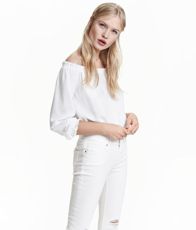H&M Short Off-the-Shoulder Blouse