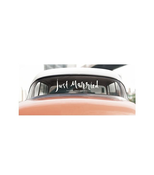 Kate Spade New York Just Married Window Cling