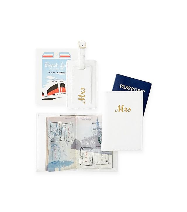 Mark and Graham Mrs Passport and Luggage Tag Set
