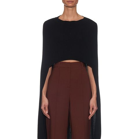Glamour Cashmere-Knit Poncho