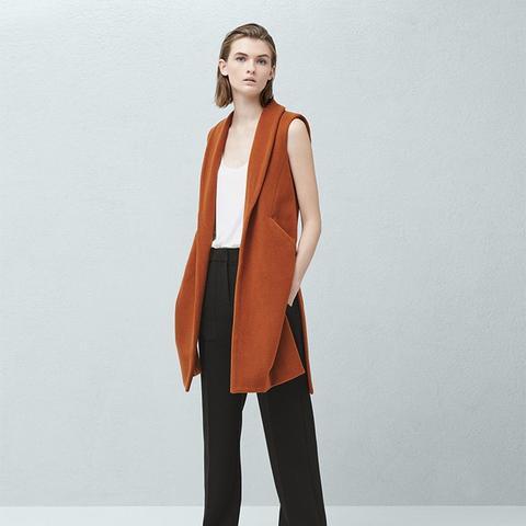 Side-Pocket Wool-Blend Waistcoat