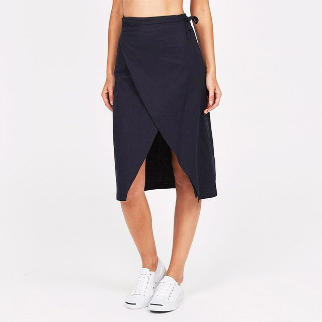 Alice In The Eve Linen Wrap Skirt