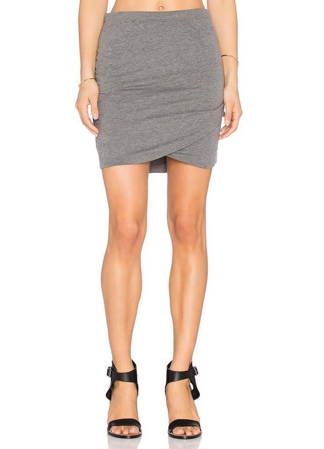 Bella Luxx Shirred Cross Front Skirt