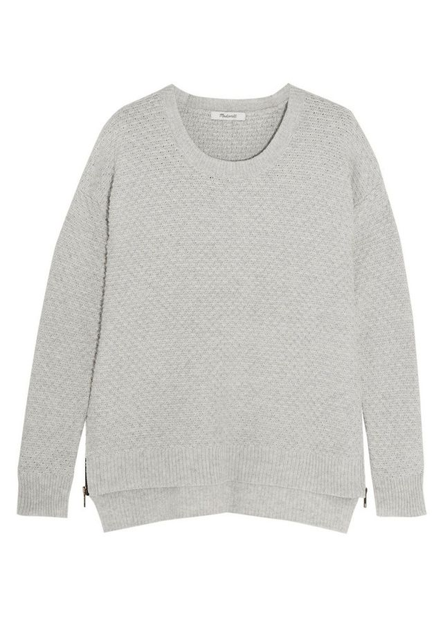 Madewell Bramble Textured Cotton-Blend Sweater