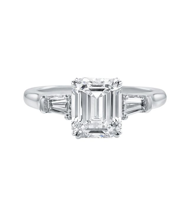 Harry Winston Emerald-Cut Engagement Ring(price upon request)
