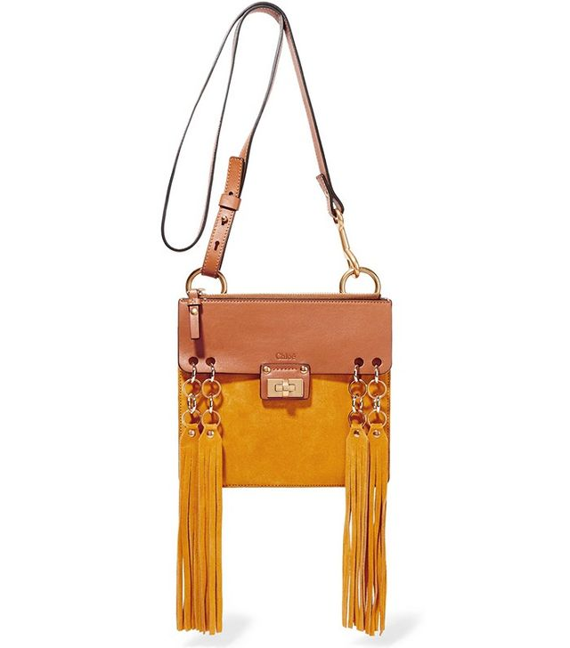 Chloé Jane Small Leather and Suede Shoulder Bag