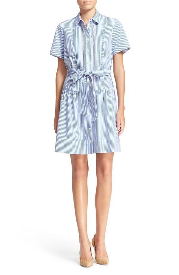 Kate Spade New York Stripe Pleated Shirtdress