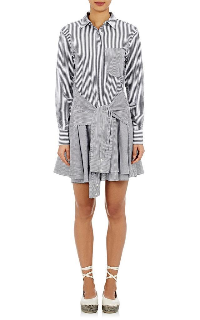 Derek Lam 10 Crosby Mixed Stripe Voile Shirtdress