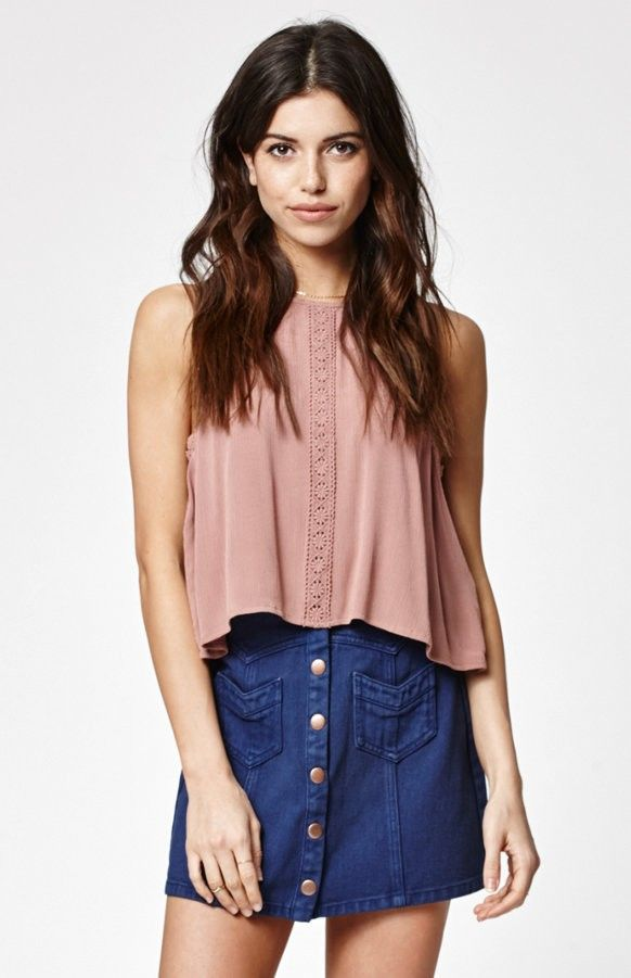 Kendall & Kylie Western Button Front Skirt