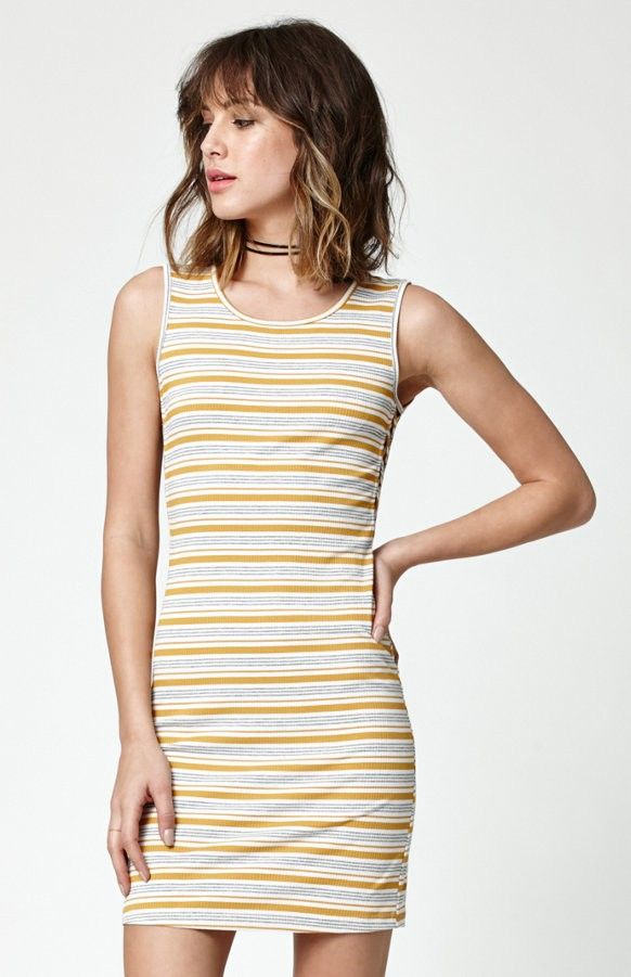 Kendall & Kylie Lace-Up Side Ribbed Dress