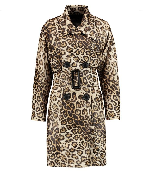 Vivienne Westwood Anglomania Malady Leopard Print Trench Coat