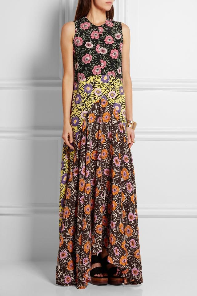 Marni Floral-Print Voile Maxi Dress