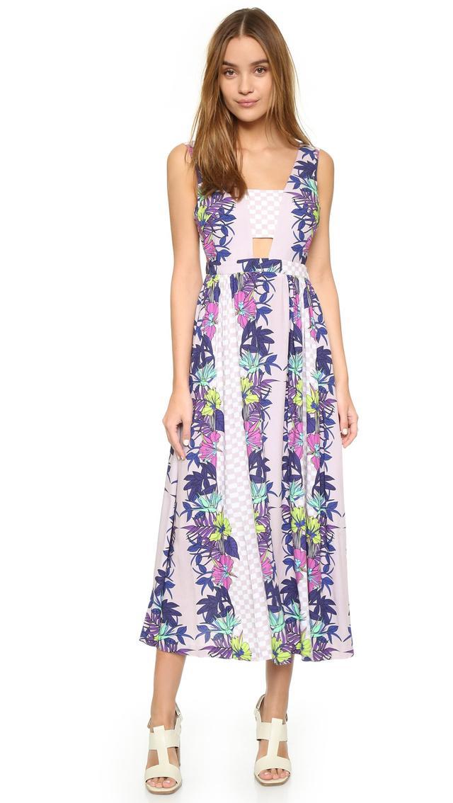 Mara Hoffman Deep V Dress With Bandeau