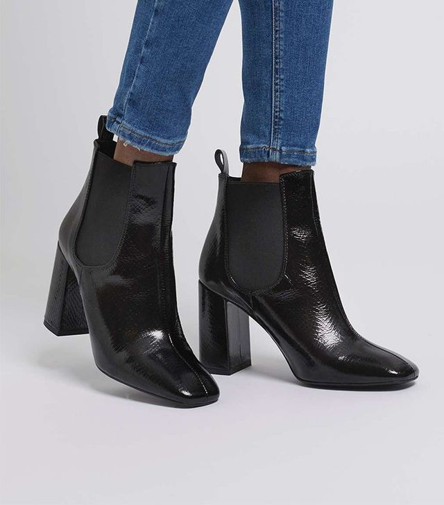 Topshop Maria Flared Heel Chelsea Boots