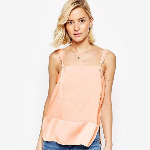 Matte And Shine Tie Strap Cami Top