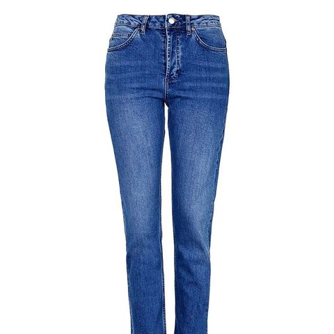 Moto Rich Blue Straight Jeans