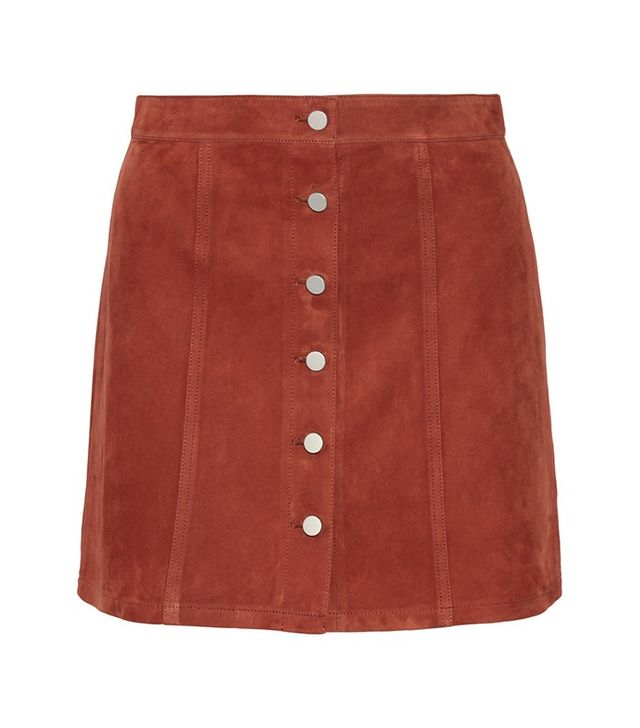 Theory Benna Suede Mini Skirt