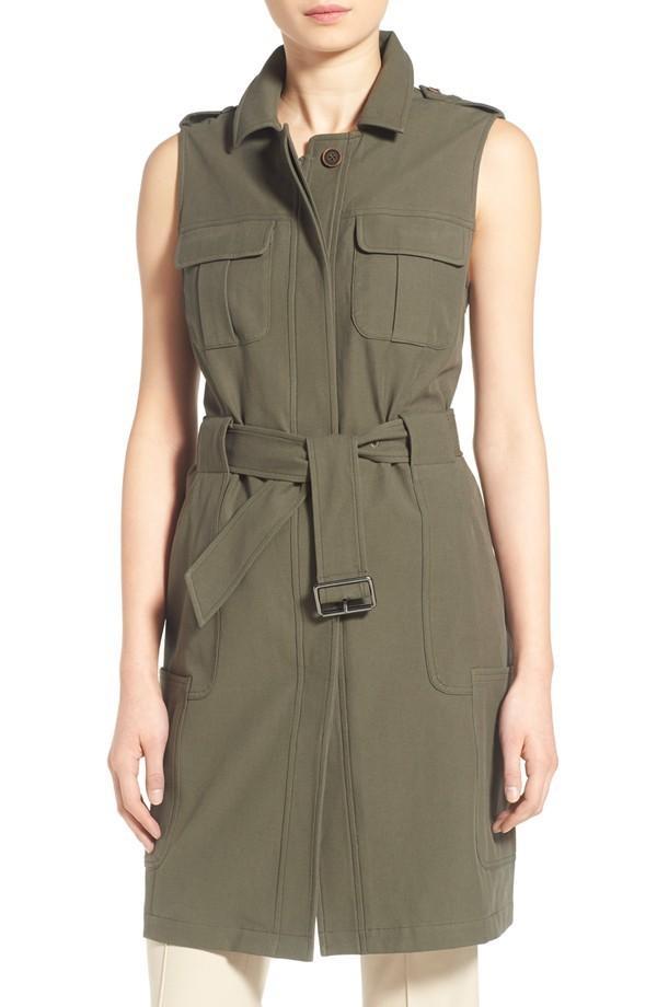 Olivia Palermo + Chelsea28 Long Military Vest