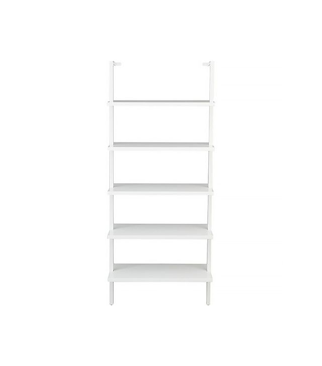 CB2 Stairway White Wall-Mounted Bookcase