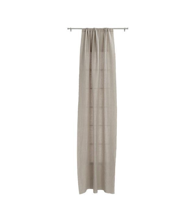 CB2 Natural Linen Curtain Panel