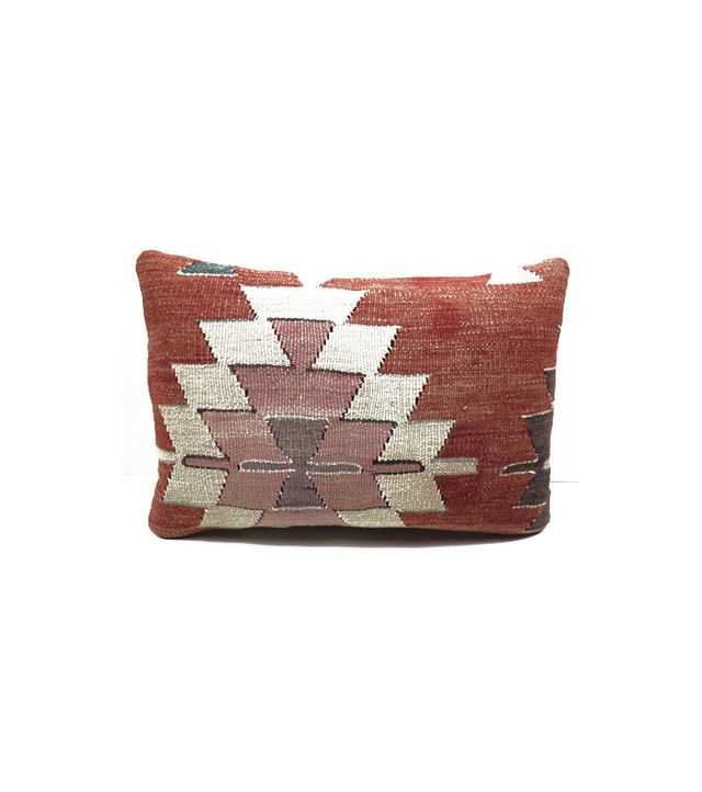 Turkish Kilim Store Vintage Turkish Rug Kilim Lumbar Pillow Cover