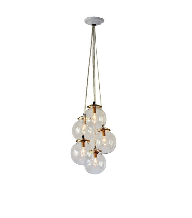Boots N Gus Glass Globe Cluster Chandelier
