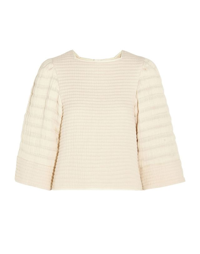 Isabel Marant Greg Quilted Cotton-Blend Matelassé Top