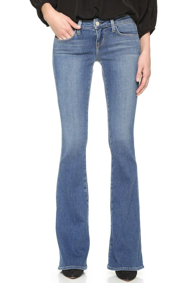 L'Agence Elysee Low Rise Flare Jeans