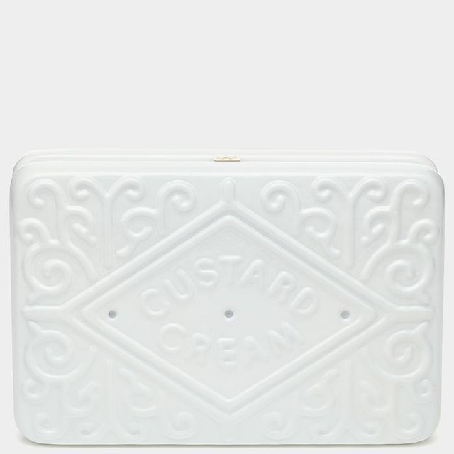 Anya Hindmarch Custard Cream Clutch in Chalk