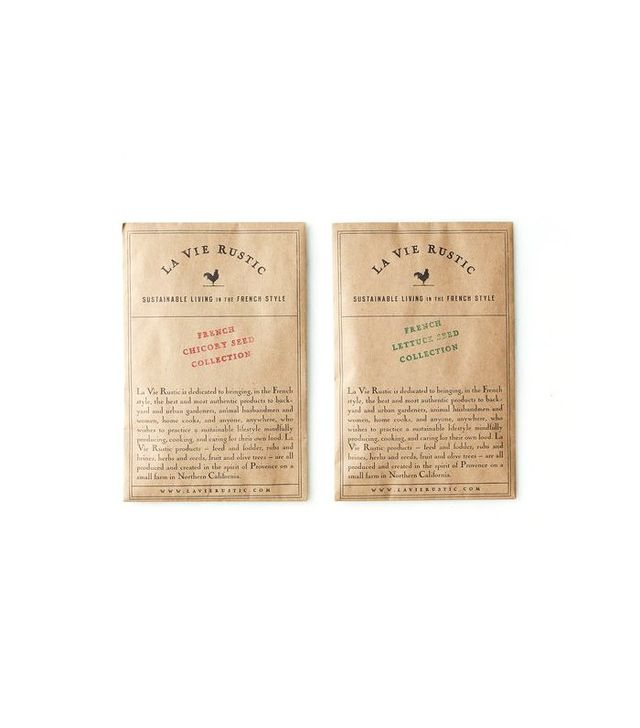 La Vie Rustic French Lettuce and Chicory Seed Packets