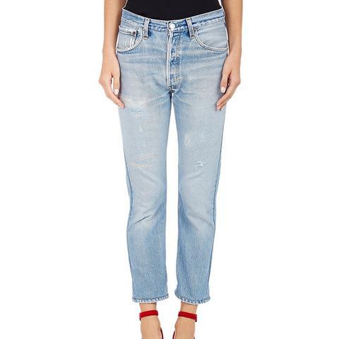 High-Waist Skinny Crop Jeans