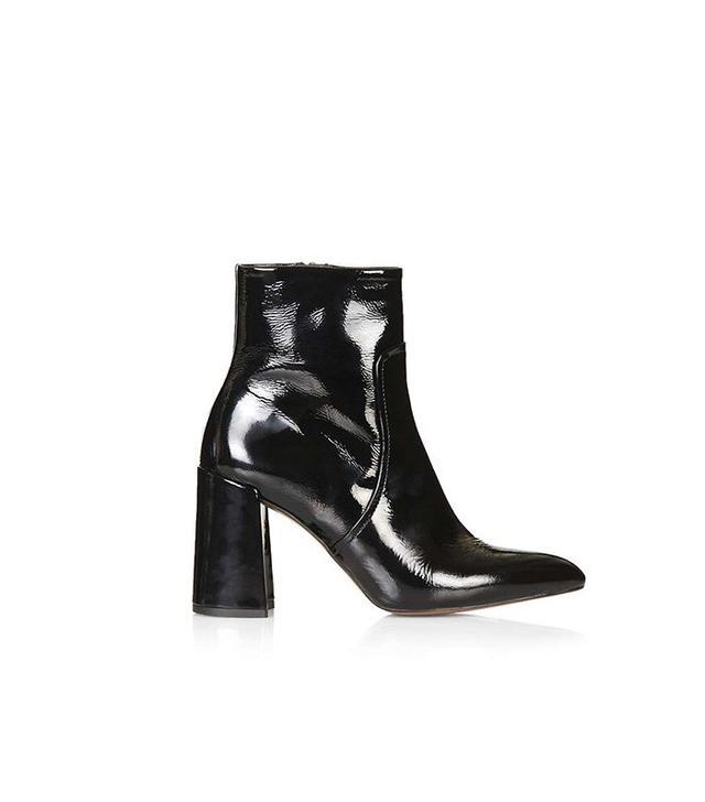 Topshop Hamptons Flared Heel Boots