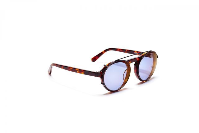 Westward Leaning Dyad With Copper Blue Lenses