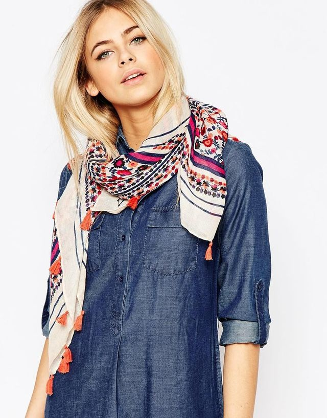 ASOS Floral Light Weight Scarf