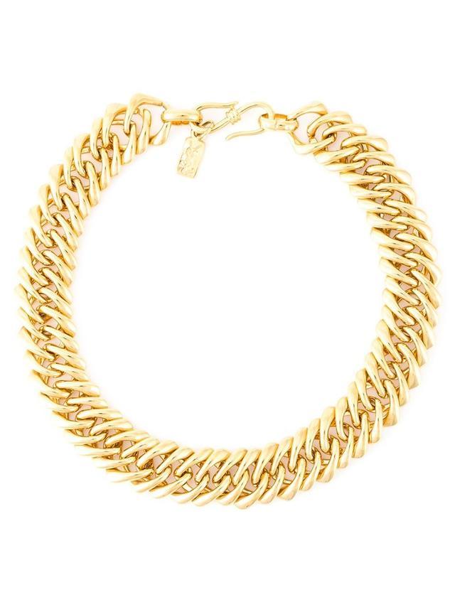 Yves Saint Laurent Vintage Chunky Choker Chain Necklace