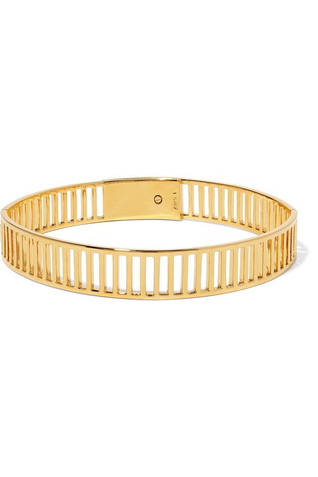 Arme de L'Amour Stripe Gold Plated Choker