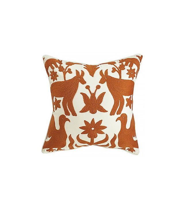 Wisteria Otomi Pillow in Orange