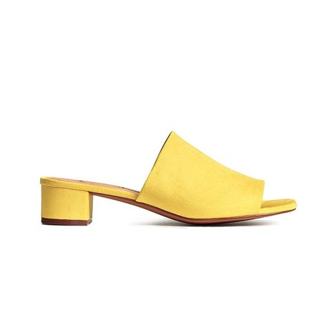 Mules with Block Heels