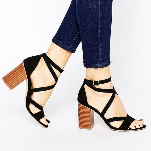 Strappy Block-Heeled Sandals