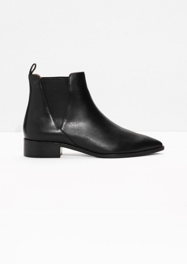 And Other Stories Leather Chelsea Boots