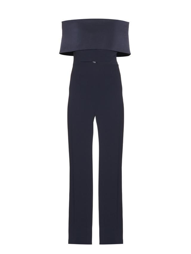 Galvan Off-the-Shoulder Crepe Jumpsuit